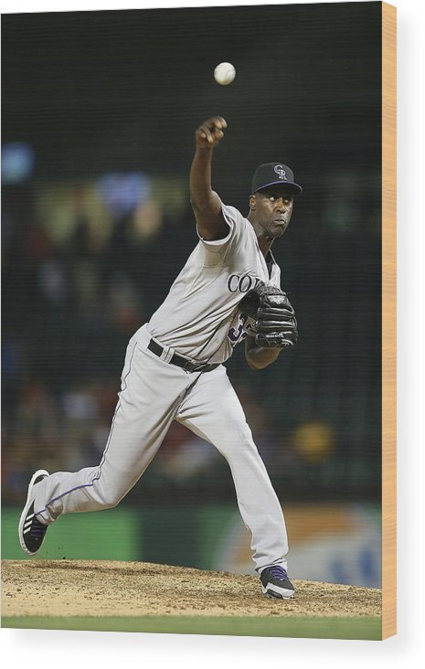 Ninth Inning Wood Print featuring the photograph Latroy Hawkins by Rick Yeatts