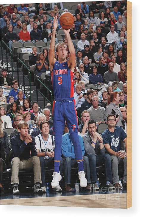 Nba Pro Basketball Wood Print featuring the photograph Luke Kennard by Danny Bollinger