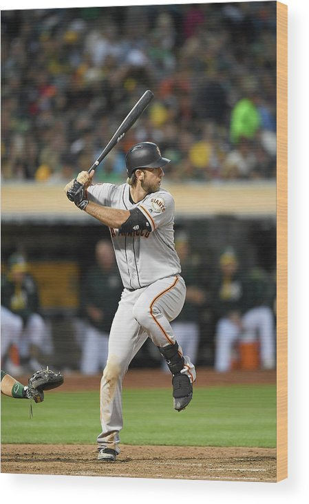 People Wood Print featuring the photograph Madison Bumgarner by Thearon W. Henderson