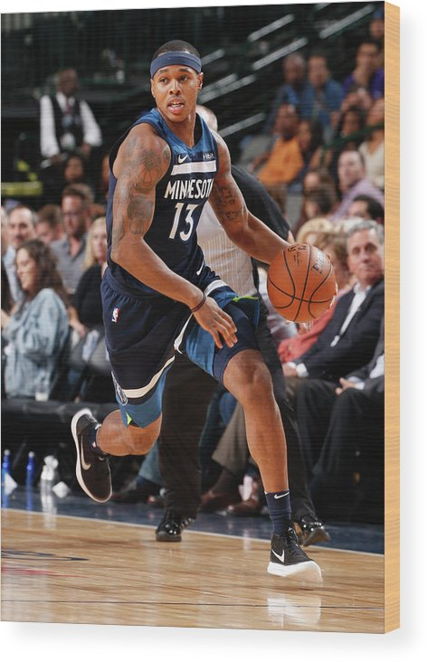 Nba Pro Basketball Wood Print featuring the photograph Marcus Georges-hunt by Glenn James