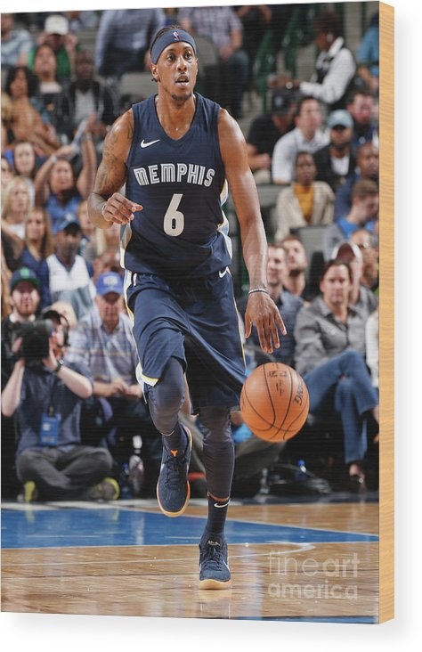 Nba Pro Basketball Wood Print featuring the photograph Mario Chalmers by Glenn James