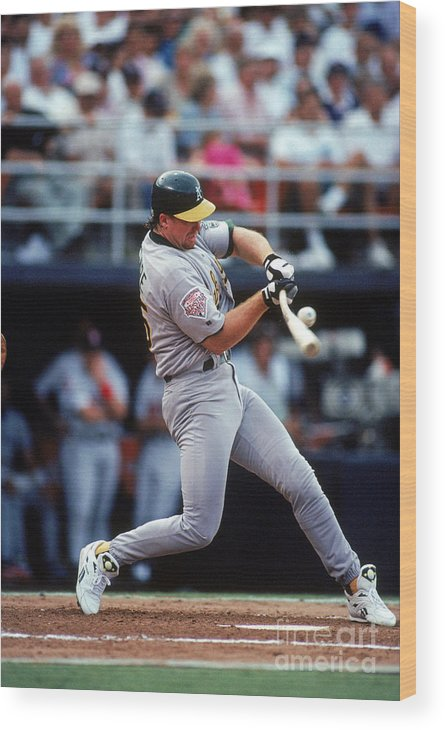 All Star Game Wood Print featuring the photograph Mark Mcgwire by Ron Vesely
