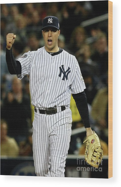 Game Two Wood Print featuring the photograph Mark Teixeira by Chris Mcgrath