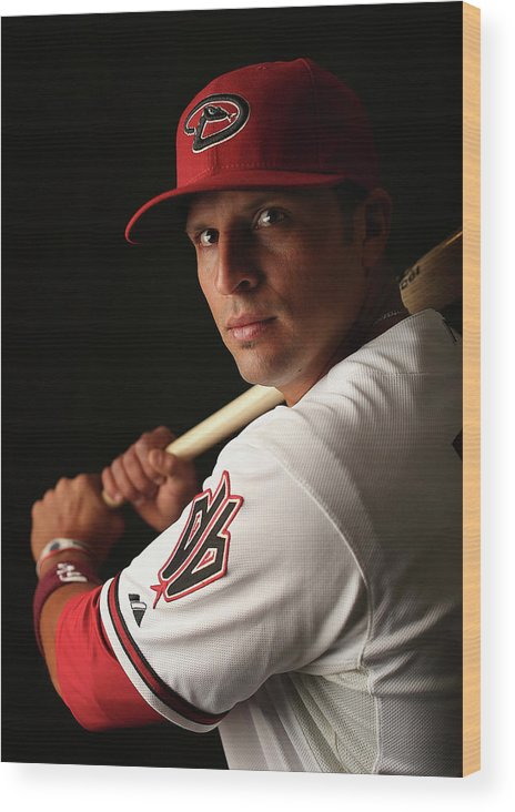 Media Day Wood Print featuring the photograph Martin Prado by Christian Petersen