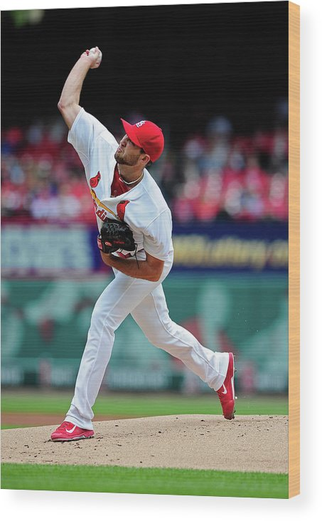 St. Louis Cardinals Wood Print featuring the photograph Michael Wacha by Jeff Curry