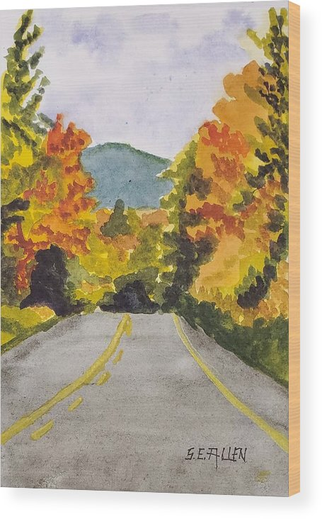 Kanc Wood Print featuring the painting On the Kanc by Sharon E Allen