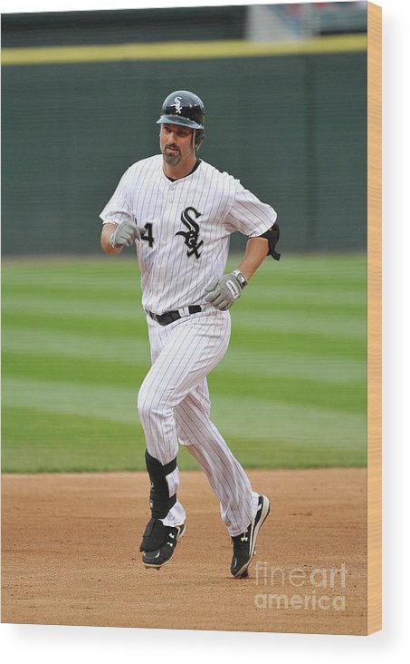 People Wood Print featuring the photograph Paul Konerko by Brian Kersey