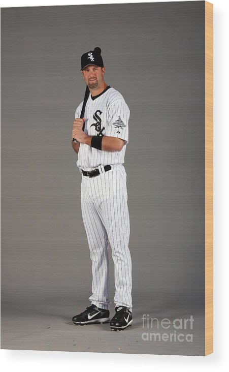 Media Day Wood Print featuring the photograph Paul Konerko by Otto Greule Jr
