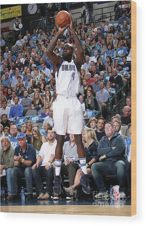 Nba Pro Basketball Wood Print featuring the photograph Quincy Acy by Glenn James