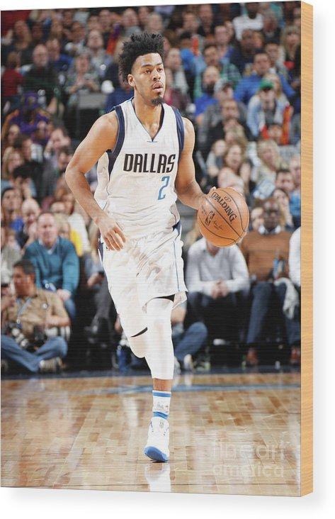 Nba Pro Basketball Wood Print featuring the photograph Quinn Cook by Glenn James
