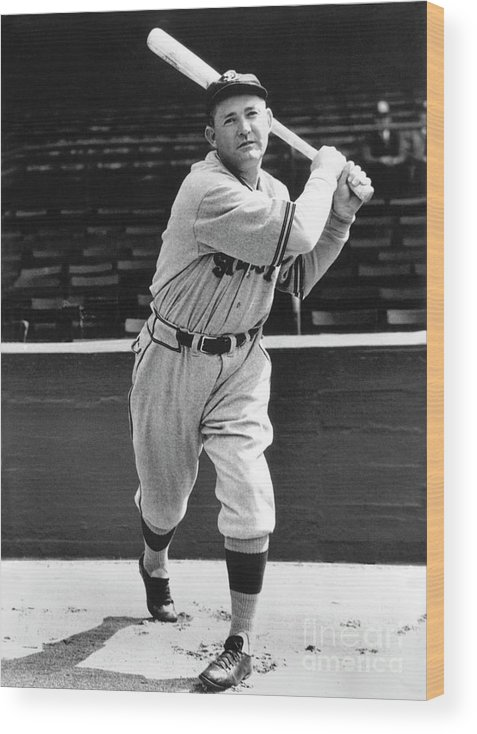 1910-1919 Wood Print featuring the photograph Rogers Hornsby by National Baseball Hall Of Fame Library