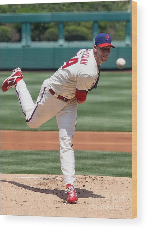 People Wood Print featuring the photograph Roy Halladay by Jim Mcisaac