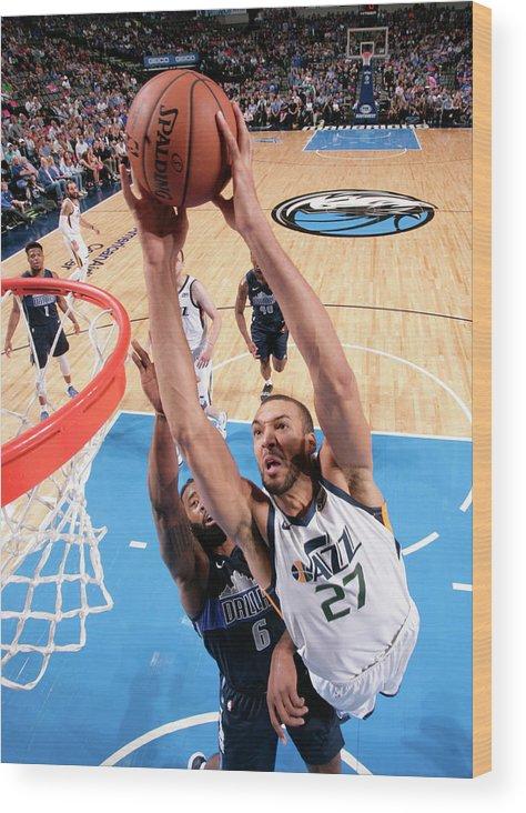 Nba Pro Basketball Wood Print featuring the photograph Rudy Gobert by Glenn James