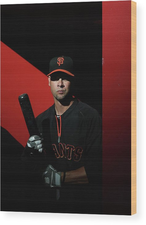 Ryan Vogelsong Wood Print featuring the photograph Ryan Vogelsong by Christian Petersen
