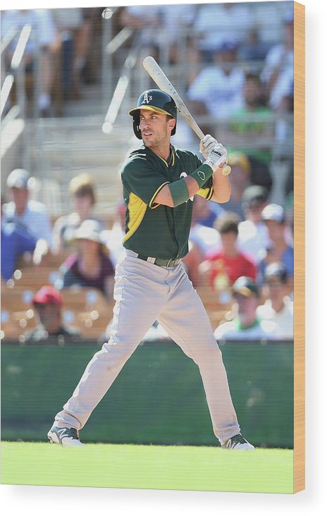 American League Baseball Wood Print featuring the photograph Sam Fuld by Christian Petersen