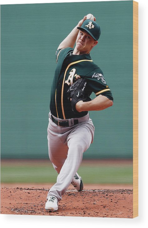 American League Baseball Wood Print featuring the photograph Sonny Gray by Jim Rogash