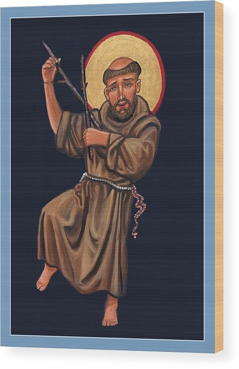 Wood Print featuring the painting St. Francis Troubadour by Kelly Latimore