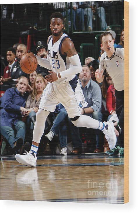 Nba Pro Basketball Wood Print featuring the photograph Wesley Matthews by Danny Bollinger