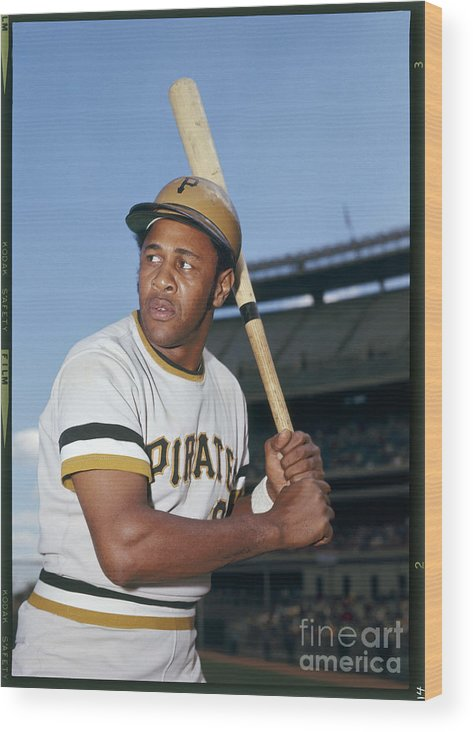 Sports Bat Wood Print featuring the photograph Willie Stargell by Louis Requena
