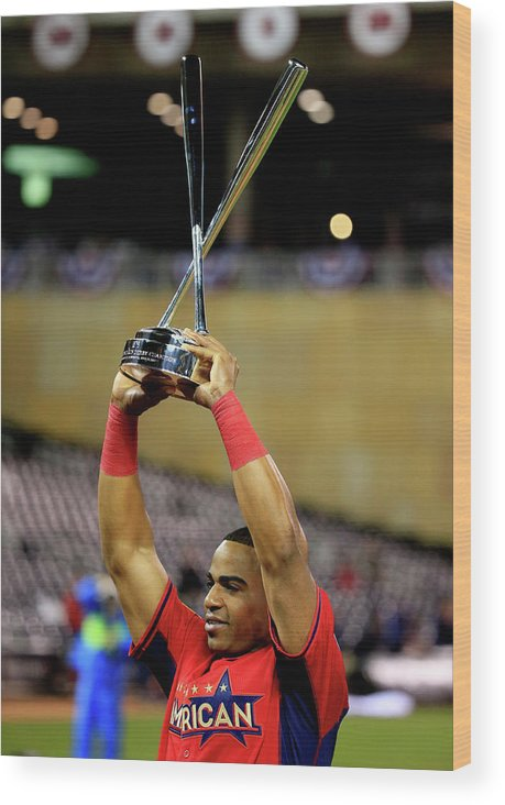 Yoenis Cespedes Wood Print featuring the photograph Yoenis Cespedes by Rob Carr