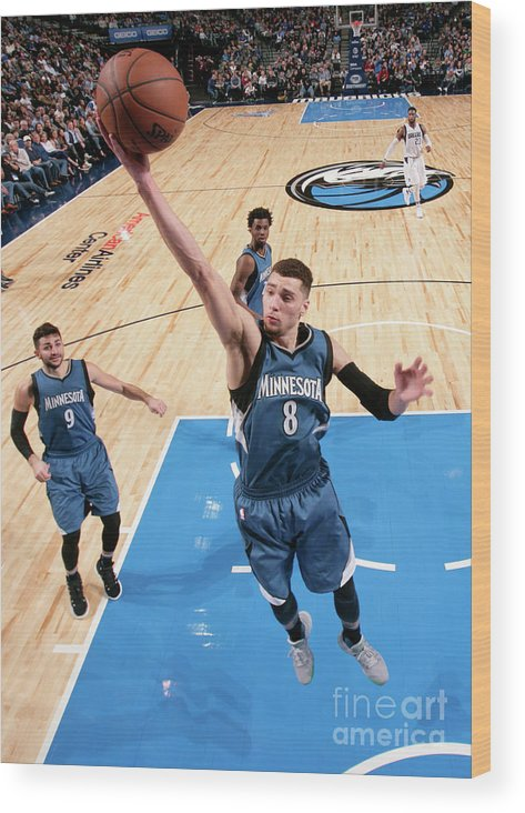 Nba Pro Basketball Wood Print featuring the photograph Zach Lavine by Glenn James