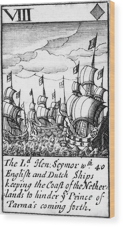 1588 Wood Print featuring the photograph Spanish Armada, 1588 by Granger