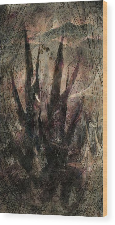 Landscape Wood Print featuring the digital art Tequila Sunrise by William Russell Nowicki
