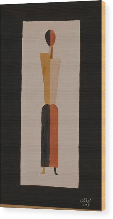 Figure Wood Print featuring the painting Iron Lady by Harris Gulko