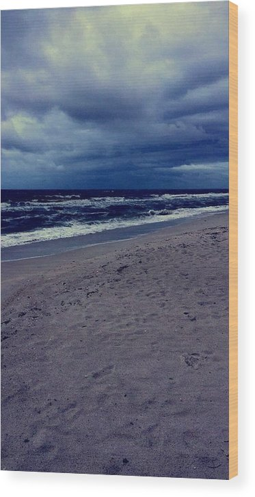 Wood Print featuring the photograph Beach by Kristina Lebron