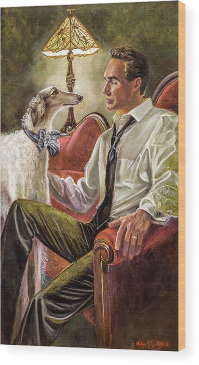 Barbara Tyler Ahlfield Wood Print featuring the painting Best Friends Rendezvous by Barbara Tyler Ahlfield