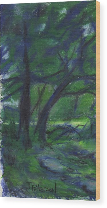 Landscape Wood Print featuring the painting Cape Cod tranquility by Todd Peterson