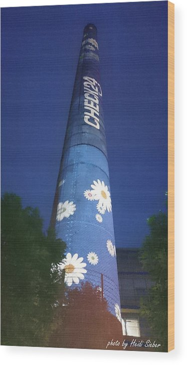 Flower Power Tower Wood Print featuring the photograph Flower Power Tower by Heidi Sieber