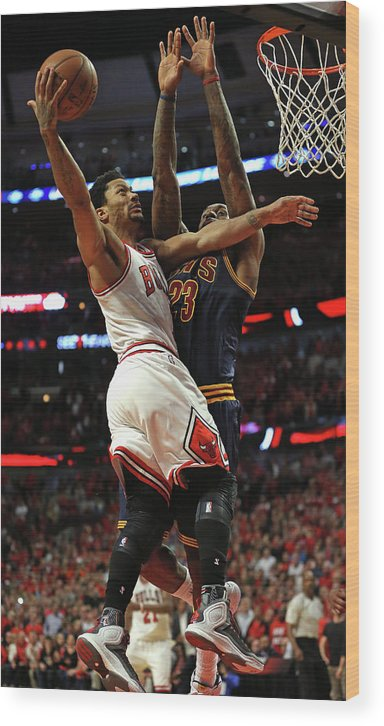 Chicago Bulls Wood Print featuring the photograph Cleveland Cavaliers V Chicago Bulls - by Jonathan Daniel