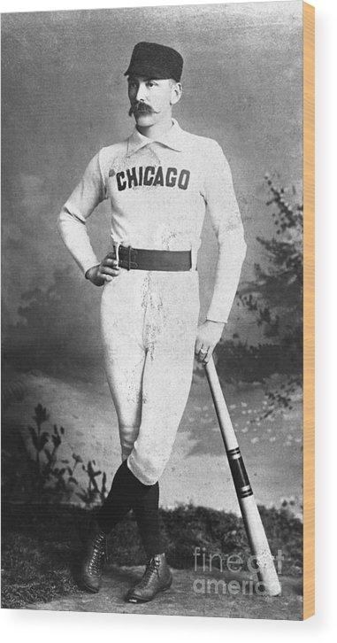 First Baseman Wood Print featuring the photograph Cap Anson, Famed Baseball Player by Bettmann