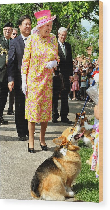 Pets Wood Print featuring the photograph Queen Elizabeth II Visits Canada - Day 6 by WPA Pool