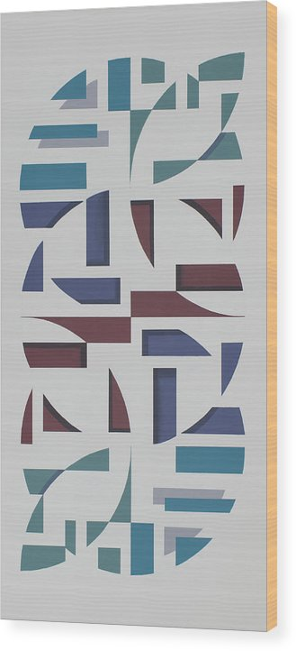 Abstract Geometric Painting Wood Print featuring the painting Reflections by Marston A Jaquis