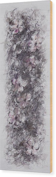 Floral Wood Print featuring the painting floral cascade II by William Russell Nowicki