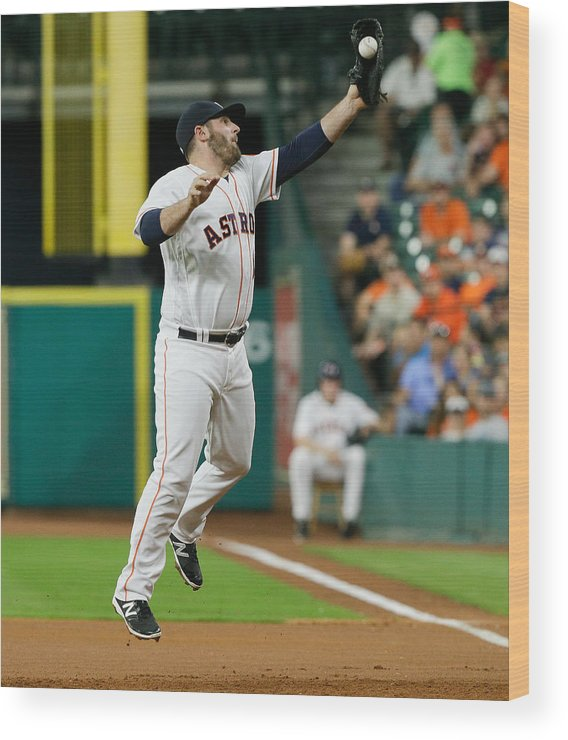 People Wood Print featuring the photograph Cleveland Indians v Houston Astros by Bob Levey