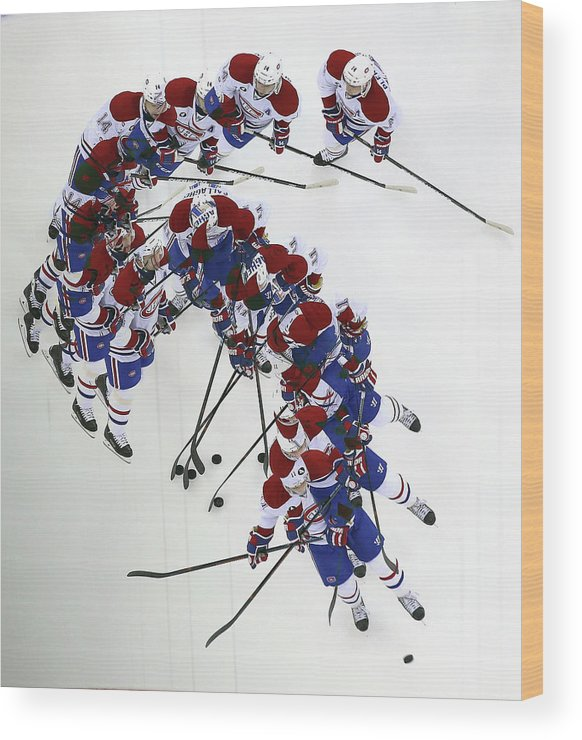 Brendan Gallagher Wood Print featuring the photograph Montreal Canadiens V New Jersey Devils by Bruce Bennett