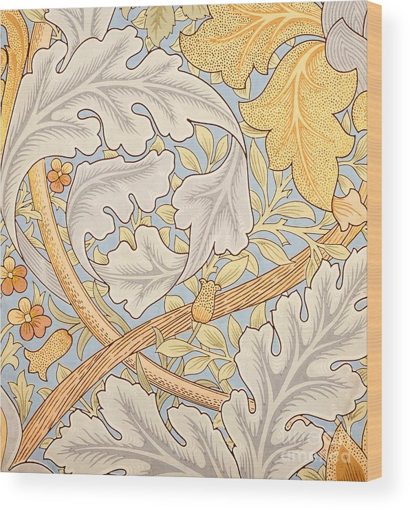 St James Wood Print featuring the painting St James Wallpaper Design by William Morris