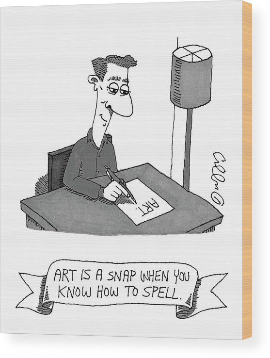 Spell Wood Print featuring the drawing New Yorker May 28th, 2007 by J.C. Duffy