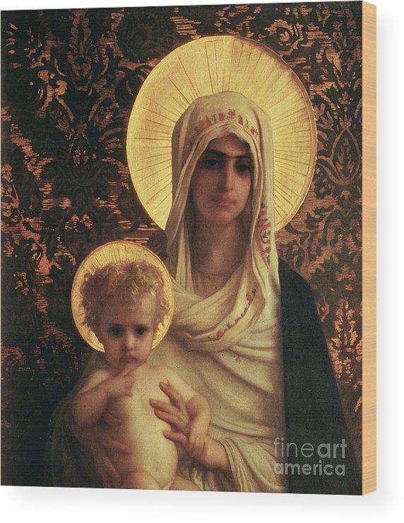 Herbert Wood Print featuring the painting Virgin and Child by Antoine Auguste Ernest Herbert