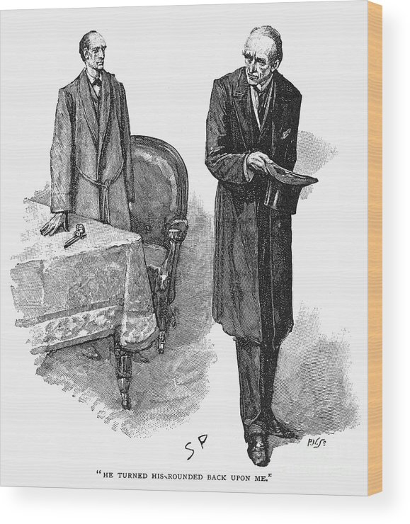 1893 Wood Print featuring the photograph Doyle: Sherlock Holmes by Granger