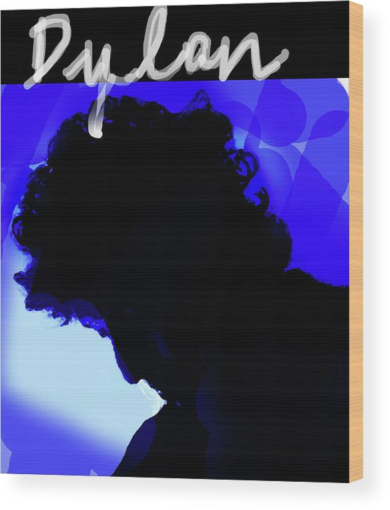 Bob Dylan Wood Print featuring the mixed media Dylan by Enki Art
