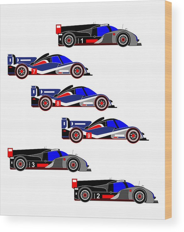Wood Print featuring the digital art Le Mans 2011 by Asbjorn Lonvig