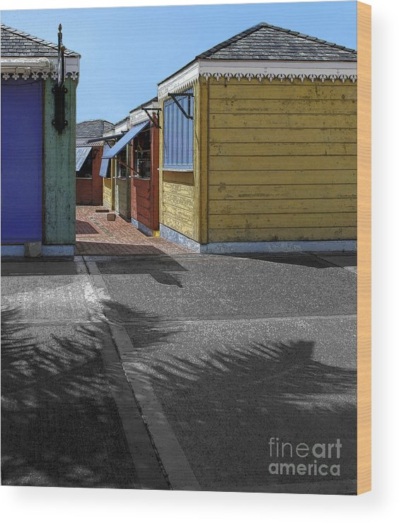 Shutters Wood Print featuring the photograph Shutters II by Katherine Morgan