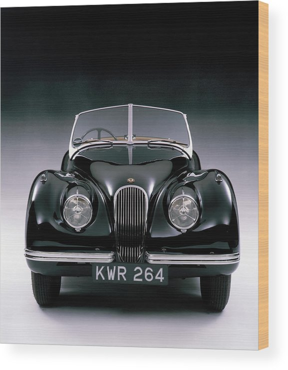Aerodynamic Wood Print featuring the photograph 1950 Jaguar Xk 120 by Heritage Images