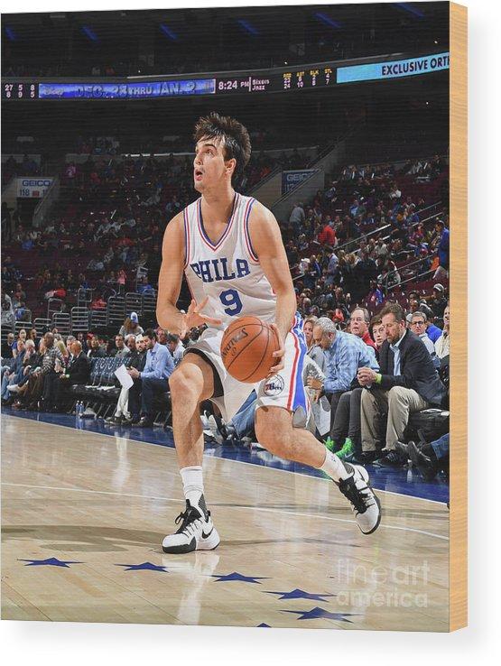Nba Pro Basketball Wood Print featuring the photograph Philadelphia 76ers V Utah Jazz by Jesse D. Garrabrant