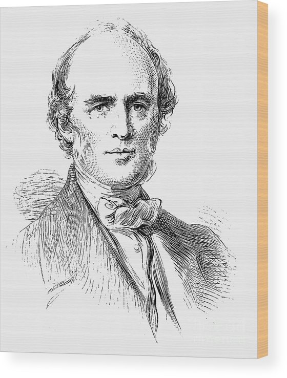 Engraving Wood Print featuring the drawing Charles Lyell, Scottish-born British by Print Collector