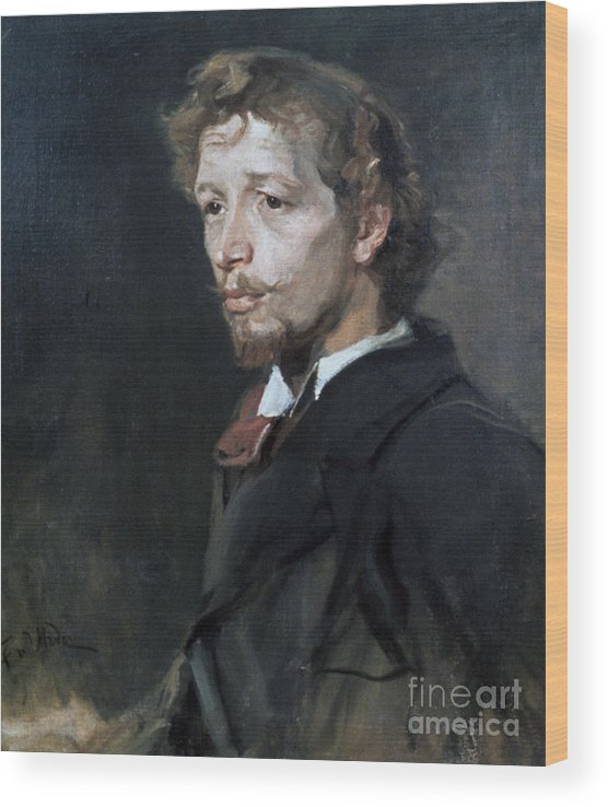 People Wood Print featuring the drawing Portrait Of A Young Man, C1880. Artist by Print Collector